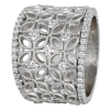 Jack Kelége Women's 18k White Gold Diamond Wedding Ring / Band - KGBD175