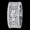 Jack Kelége Women's 18k White Gold Diamond Wedding Ring / Band - KGBD178