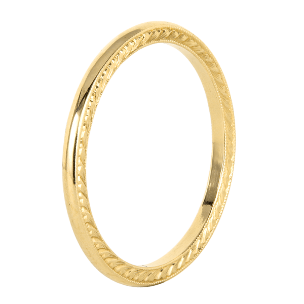 Jack Kelége Women's 18k Yellow Gold Wedding Band / Ring - KGBD163