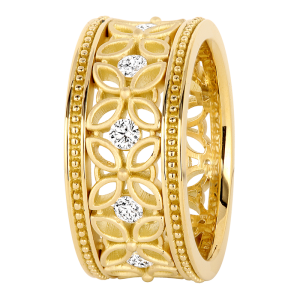 Jack Kelége 18k Gold Diamond Eternity Wedding Ring / Band - KGBD170
