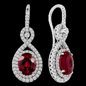 Jack Kelége Diamond Rubelite Drop Earrings - KGE173
