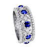 Jack Kelége Women's Diamond Sapphire Wedding Eternity Band / Ring - KGBD134