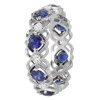 Jack Kelége Women's Diamond Sapphire Wedding Eternity Band / Ring - KGBD162