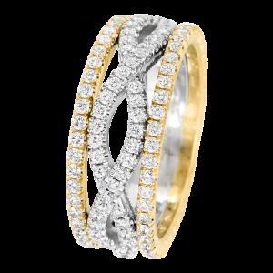 Jack Kelége Women's Diamond Twist Wedding Ring / Band - KGBD161