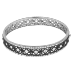 18k White Gold / Black Rhodium - KGB108-1BK