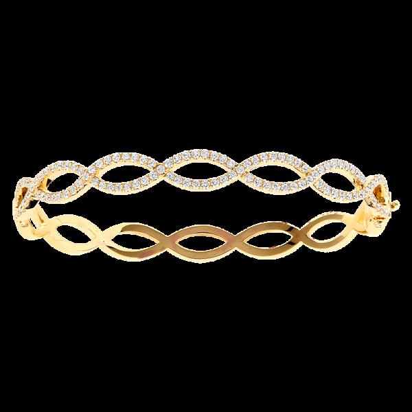 Jack Kelége Diamond Twisted Bracelet Bangle - KGB111