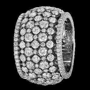 Jack Kelége Women's Platinum Diamond Wedding Band / Ring - KPR771