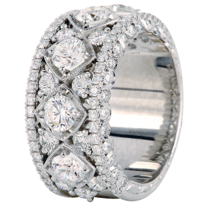 Jack Kelége Women's Platinum Diamond Wedding Band / Ring - KPBD776