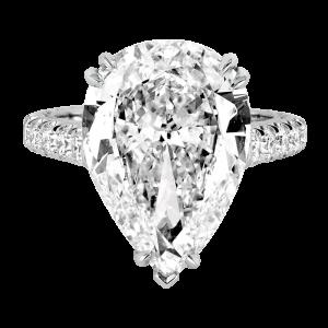 Jack Kelége platinum pear cut diamond engagement ring - KPR710