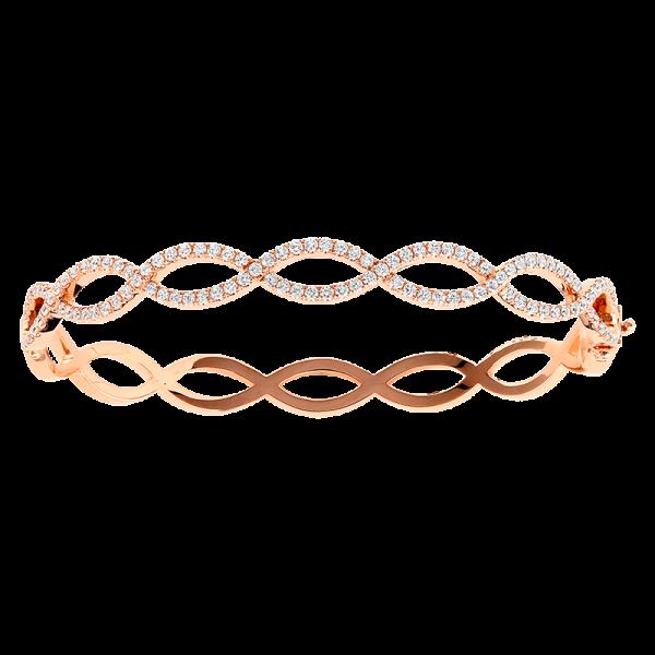 Jack Kelége Rose Gold Diamond Twist Bracelet - KGB111