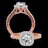 Jack Kelége Rose Gold Diamond Halo Engagement Ring - KGR1120