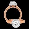 Jack Kelége Rose Gold Diamond Halo Engagement Ring - KGR1174
