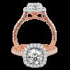 Jack Kelége Rose Gold Diamond Halo Engagement Ring - KGR1122