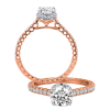 Jack Kelége Rose Gold Diamond Hidden Halo Engagement Ring - KGR1121