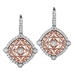 18k White / 14k Rose Gold - KGE145-1