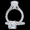 Jack Kelége Asscher Cut Diamond Solitaire Engagement Ring - KGR1083