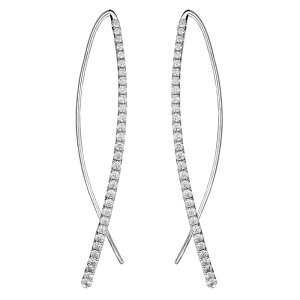 Jack Kelége Diamond Drop Earrings - KGE147