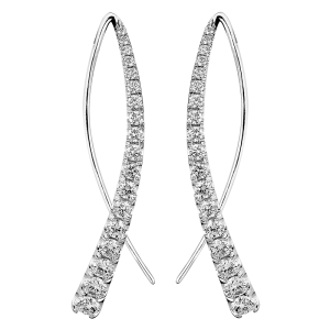 Jack Kelége Diamond Drop Earrings - KGE187