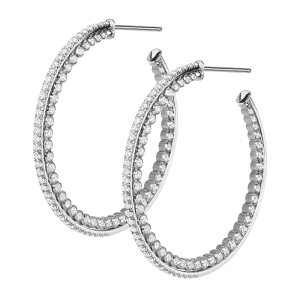 Jack Kelége Diamond Hoop Earrings - KGE218