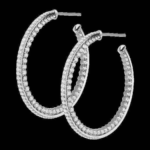 Jack Kelége Diamond Hoop Earrings - KGE218