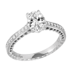 Jack Kelége Oval Cut Diamond Engagement Ring - KGR1119