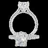 Jack Kelége Radiant Cut Diamond Solitaire Engagement Ring - KGR1083
