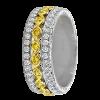 Jack Kelége Women's Yellow Diamond Wedding Ring / Band - KGBD105