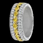 18k White/Yellow: Half Anniversary - KGBD105