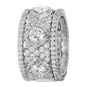 Jack Kelége Women's Platinum Diamond Eternity Wedding Band / Ring - KPBD783