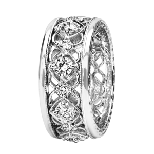 Jack Kelége Women's Diamond Wedding Band / Ring - KGBD230