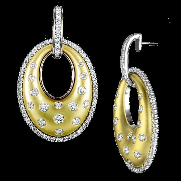 Jack Kelége Diamond Drop Earrings - KGE115