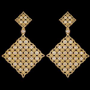 Jack Kelége Diamond Drop Earrings - KGE156