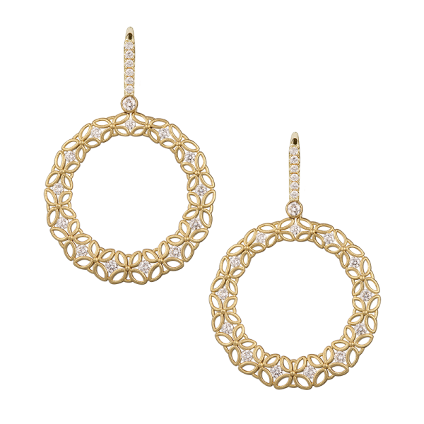Jack Kelége Diamond Drop Earrings - KGE157