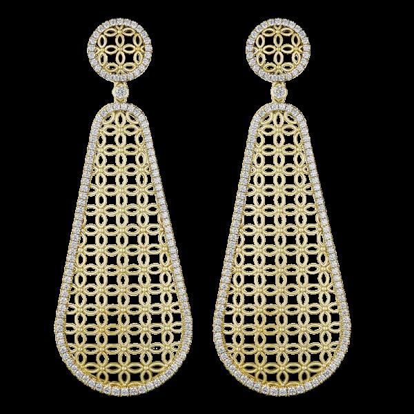 Jack Kelége Diamond Drop Earrings - KGE158