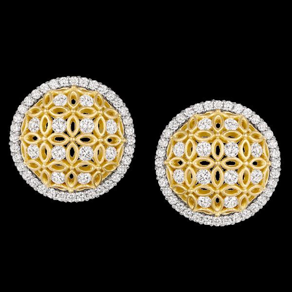 Jack Kelége Diamond Halo Earrings - KGE161