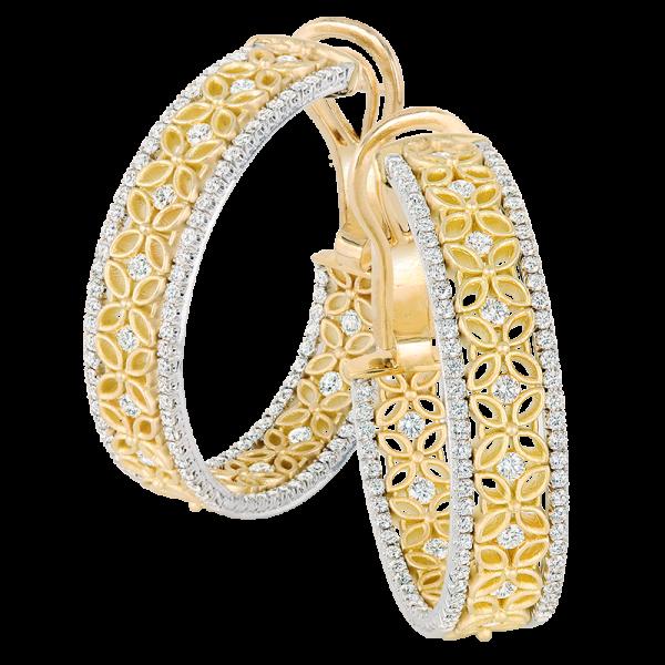Jack Kelége Diamond Hoop Earrings - KGE165
