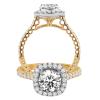 Jack Kelége Diamond Halo Engagement Ring - KGR1122