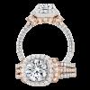 Jack Kelége rose gold accent diamond engagement ring - KGR1058