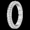 Jack Kelége platinum diamond eternity ring with baguettes - KPBD744