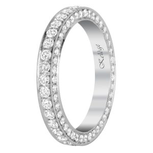 Jack Kelége platinum diamond eternity ring with baguettes - KPBD744