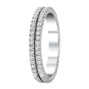 Jack Kelége diamond double row ring - KGBD174