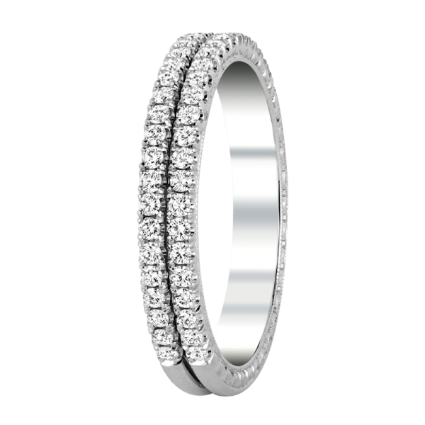 Jack Kelége diamond double row ring - KGBD174