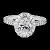 Jack Kelége oval diamond engagement ring - KGR1122