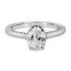 Jack Kelége oval diamond solitaire engagement ring - KGR1126