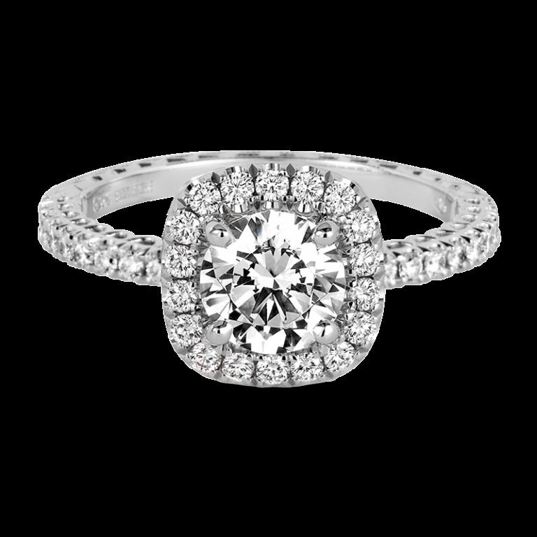 Jack Kelége diamond halo engagement rings