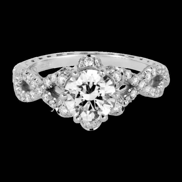 Jack Kelége diamond twist engagement rings
