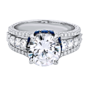 Jack Kelége diamond engagement ring with sapphire accent - KGR1233S