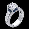 Jack Kelége diamond sapphire engagement ring - KGR1233