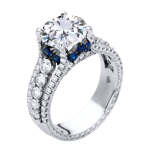 18k white gold with sapphire accent - KGR1233S