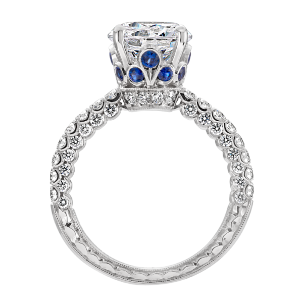 Jack Kelége diamond engagement ring with sapphire accent - KGR1234S